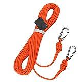 Rindasr Cuerda, al aire libre rescate cuerda de escape escalada, alta de soporte de carga nylon cuerda elástica resistente al desgaste, con dos mosquetón, longitud 5/10/15 / 20m