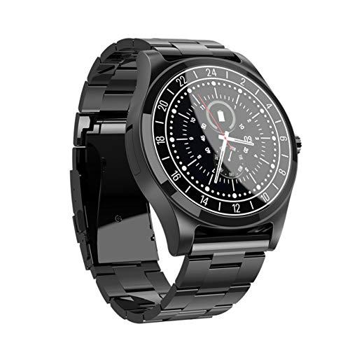 MachinYeseed Fashion Business Style Link kann angeschlossen werden, um Smart Watch anzurufen (Farbe: Black Steel)