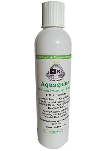 Aquagaine Premium Hair Loss Prevention/Restoration Shampoo with Organic Rosemary & Lavender Oil, Natural DHT Blockers and Biotin for Hair Growth – Sulfate Free, For Men & Women, 8 OZ