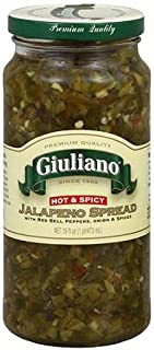 Giuliano Hot & Spicy Jalapeno Spread 16 Oz (Pack of 2)