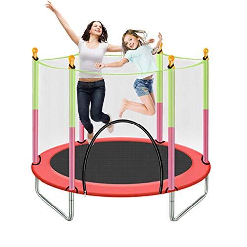 DX Trampolino per Bambini al Coperto, Trampolino per Fitness con recinto per Rete a Rete Recinzione Mini Trampolino per Esercizi per Interno/Giardino/Allenamento Cardio
