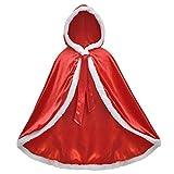EOZY Niña Navidad Disfraz de Princesa Capa de Princesa para Niñas Disfraces para Halloween Trajes de Navidad Rojo 120cm