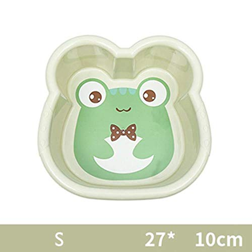 LIMMC Hot 1PC wastafel plastic schoteltje leuke karikatuur baby-wasgoed badkuip pasgeboren kind gezicht wast voeten badkuip baby-washtub 10300E, S-groen