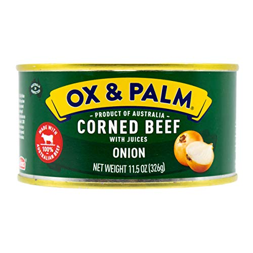 Ox & Palm Corned Beef Onion Flavored, 11.5 Ounce