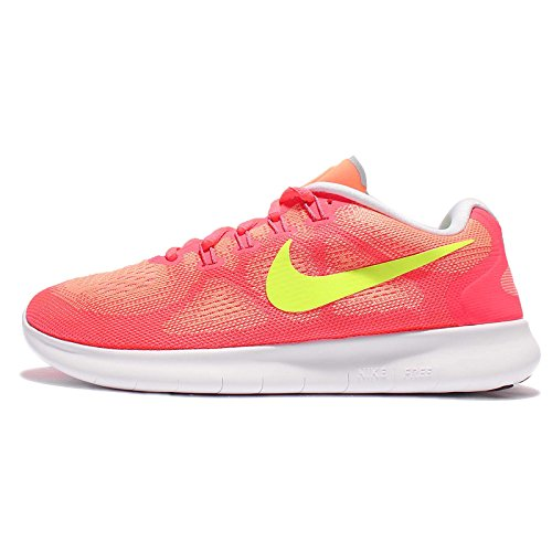 Nike Women's WMNS Free RN 2 Running Shoes, Sunset Glow/Volt-HOT Punch