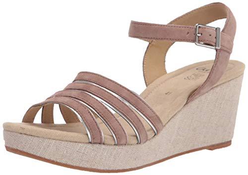 ara Shoes Women's RITA platform wedge sandals, Taupe 9.5-10 US