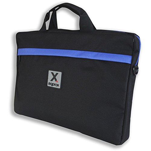 Approx APPNB15S - Bolsa para portátil de 15.6 pulgadas, Negro / Azul