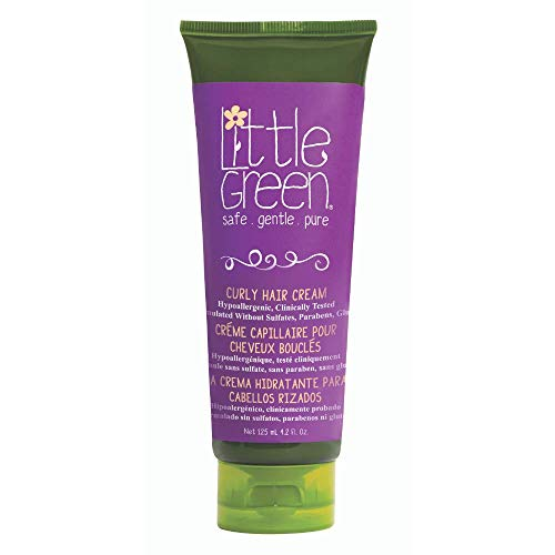 Little Green Curly Hair Styling Cream for Children. Frizz Free, Sulfate Free, Paraben Free, and Gluten Free. Not Tested on Animals. 4.2 fl. Ounces, white (LGKCHC4)