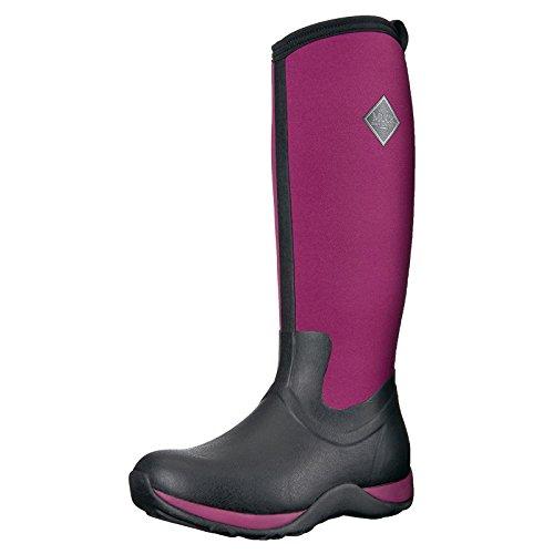 Muck Boots Arctic Adventure, Bottes Femme - Noir (black/maroon) - 38 EU (5 UK)