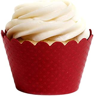 Dress My Cupcake Standard Red Cupcake Wrappers, Set of 50