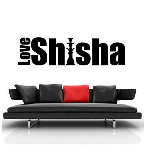 Ccfqiangtie Wandtattoo Shisha Schaufenster AufkleberRelax Bar House Decor Home Schlafzimmer Aufkleber 30X111Cm
