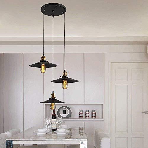 SHENLIJUAN Retro Estilo Loft Negro y de la Vendimia de Cobre de Techo montado en la lámpara de la lámpara Colgante Accesorio Decorativo