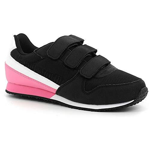 Le Coq Sportif - Zapatillas deportivas para niño Alpha II PS Sport, Negro (Negro y rosado), 33 EU