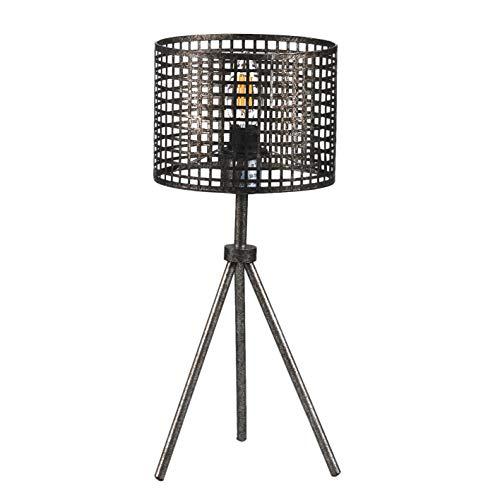 ONLI tafellamp statief stijl industrieel metaal geperforeerd grijs
