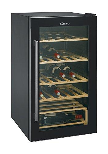 Candy CCVA 200 GL CCVA200GL Cantinetta Vino, 40 Bottiglie, 46 Db(A), Nero, 117 Litri, Decibel, Vetro