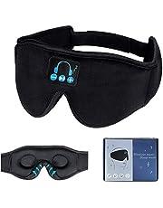 Bluetooth 5.0 Sleep Eye Mask Headphones, 3D Side Sleeper Sleep Headset Wireless Sleep Phones Sleeping Travel Music Eye Cover with Ultra-Thin HD Stereo Speakers