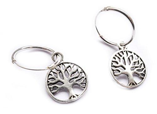 Ohrringe Silber Lebensbaum/Baum des Lebens/Tree of Life - Yoga Esoterik Spiritualität Astrologie Meditation