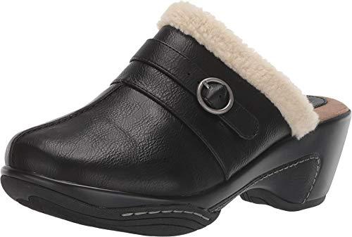 RIALTO Shoes Vina Women's Clog, Black/Tumbled Smooth, 8H M