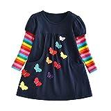 DXTON Little Girl Children Kid Winter Long Sleeve Tutu Party Dresses LH5805-7T