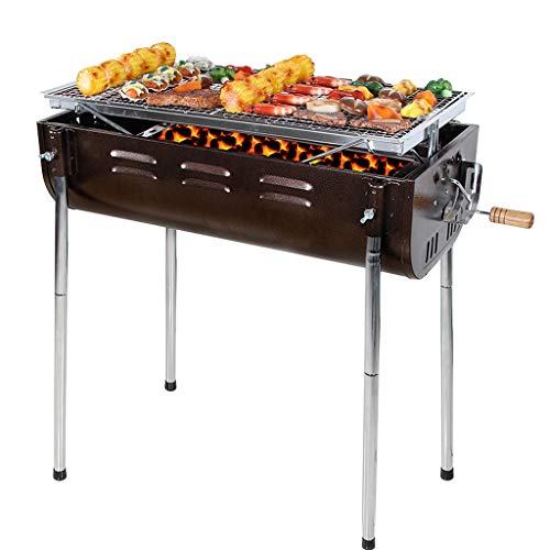 Hkwshop Portable Charcoal Grill Outdoor Portable Large Barbecue Rack for More Than 5 People Charcoal Grill Picnic Barbecue Shelf Outdoor BBQ Grill
