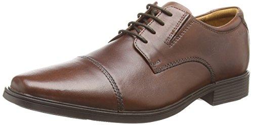 Clarks Herren Tilden Cap Derby, Braun (Brown Leather), 44.5 EU