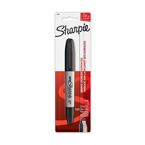 Sharpie 1ct Black Twin tip Permanent Marker