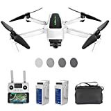 HUBSAN Zino 2 Plus 4K Drone 60fps UHD Camera 3-Axis Gimbal 9KM Transmission GPS FPV RC Quadcopter, Auto Return Home Brushless Motor 35mins Flight Time, Two Batteries, ND Filter Sets Included