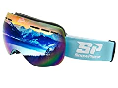 Helmet-compatible with silicone strap backing to hold the goggles in place, for all sizes - men, women, and teens Frameless Technology with Armored venting for air flow around the eyes Wide, spherical lens design to provide 180-degree unobstructed fi...