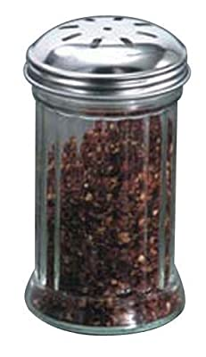 American Metalcraft (GLA316) 12 oz Glass Sugar Shaker w/Lid