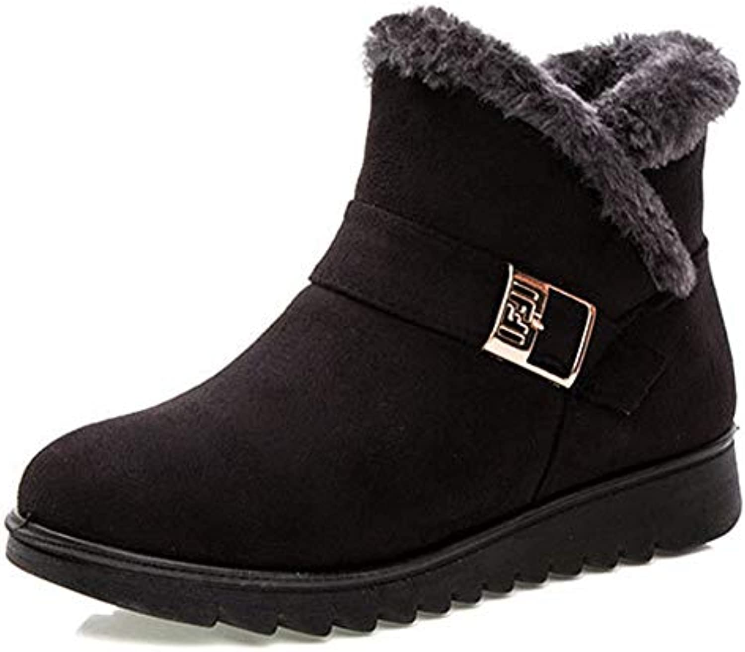 T-JULY Women Fashion Warm Snow Boots Ankle Winter Boots for Women Black Red Plus Size shoes