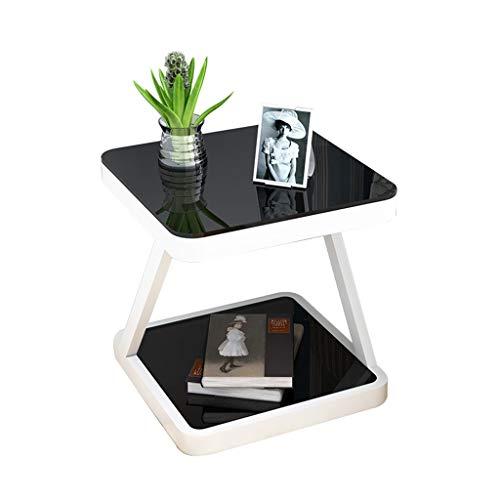Yyqx Mesita de noche mesita de noche simple dormitorio moderno almacenamiento pequeña mesa creativa armario pequeño montaje simple mesita de noche