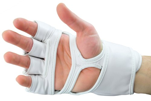 Kunstleder FreeFight MMA Handschuhe Ultimate Fighter weiß - Sehr hohe schlagabsorbierende Eigenschaft Abbildung 3