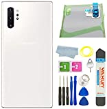 Galaxy Note 10 Plus Back Glass Cover Housing Door with Tape Parts Replacement for Samsung Galaxy Note10+ Note10 Plus 5G (Aura White)