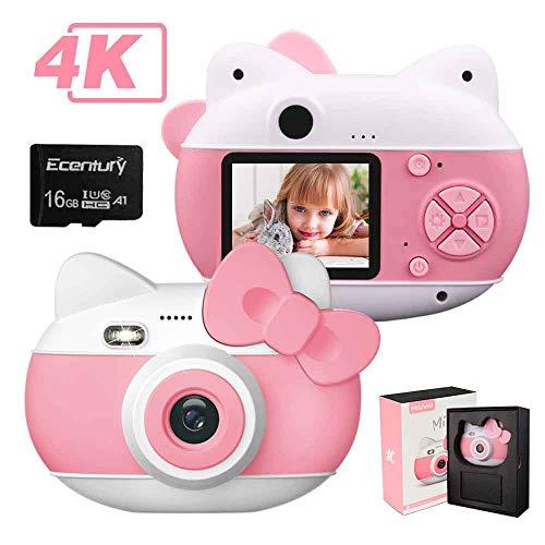 le-idea Fotocamera per Bambini con Flash, Fotocamera Digitale per Cam per Bambini con Fotocamera HD 1080P / 4K Pixel (4032 * 3024) / Schermo IPS da 2,0'/ Scheda 16G TF Inclusa (Rosa Scuro)