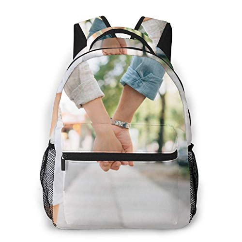 Lawenp Multifunctional Casual Backpack,Fashion Trend Knapsack,Cute Backpack11.5 X 16'''' X 8'''' Holding Handscouplecouple Holding Handslovehandsmale