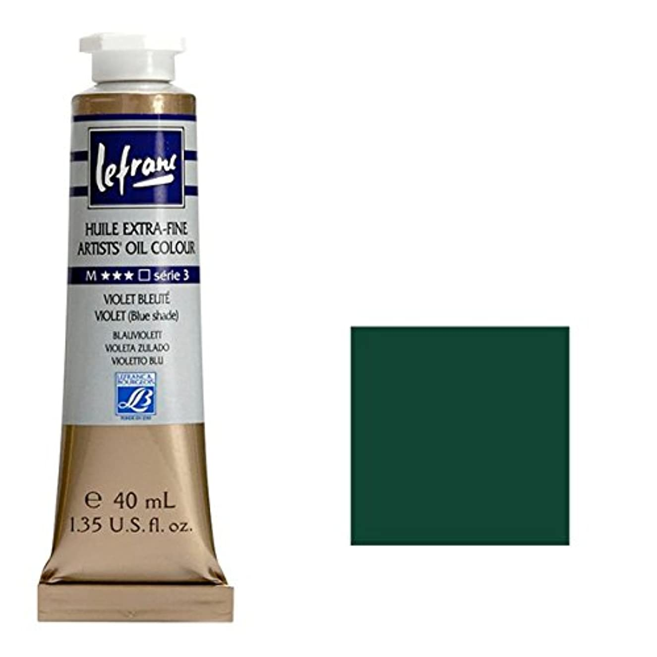 Lefranc & Bourgeois Artists Oil Paint, Oil-Based Paint, Saftgrün Permanent, ?l - Farbe, 40ml Tube