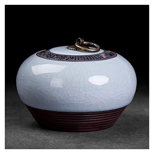 YYCHJU Contenedor de Almacenamiento de Té Frascos para Caddy Ceramic Caddy Tradición Creativa con Tapa Universal Caddy Coffee Cazador Caddy House Hogar Tank 12 * 8,5 cm (Color : Purple)