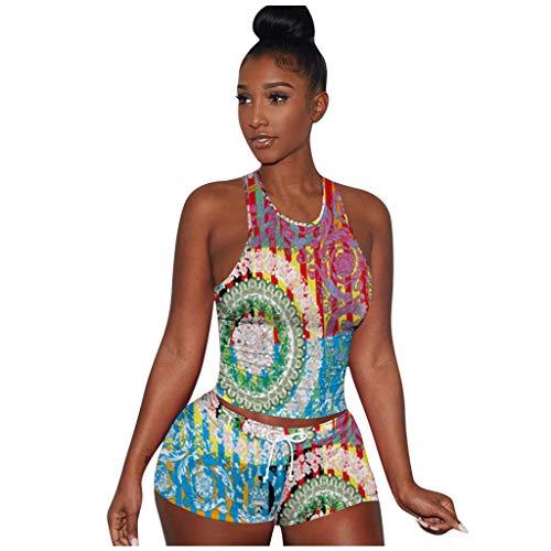 Buy Discount Toimothcn Short Sets Women 2 Piece Outfits for Women Sleeveless Split Casual Short Pant...