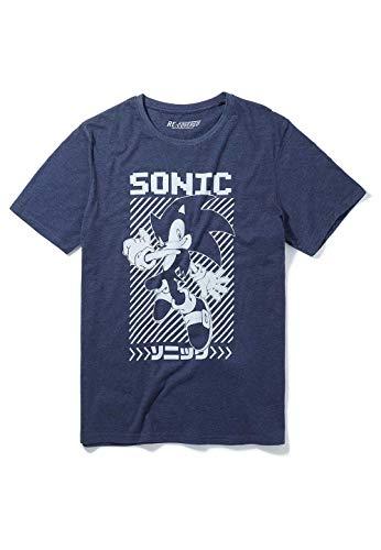 """Recovered - Schlafanzug mit """"Sonic der Igel"""" - japanisch - Dunkelblau/Dunkelgrau - L"""