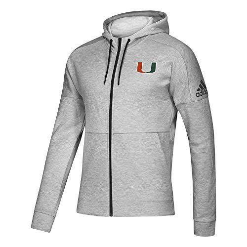 adidas NCAA Full Zip Fleece Miami Hurricanes, Grey, XXLarge