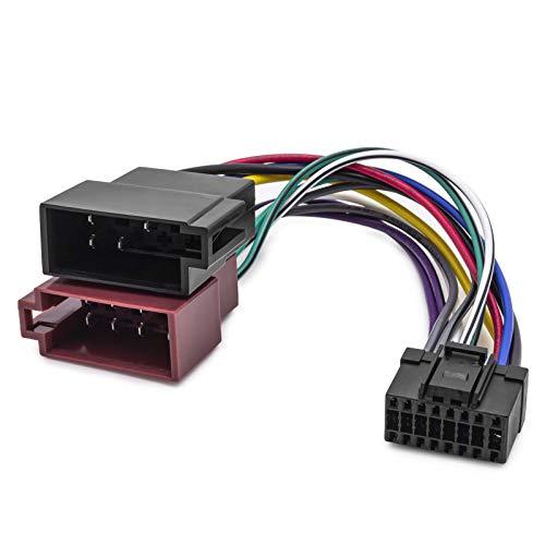 KFZ Auto Radio Adapter Kabel Din ISO 16 Pol Stecker Kabelbaum für Pioneer 16cm