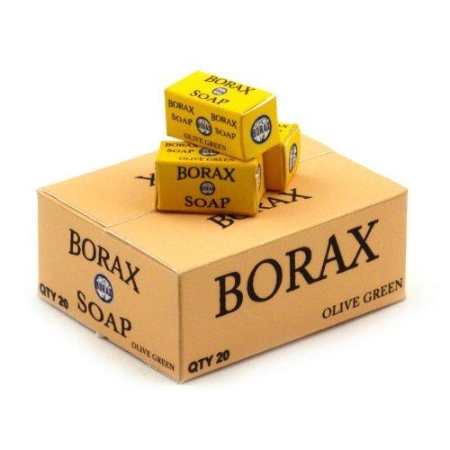 MyTinyWorld Puppenhaus Miniatur Borax Seife Laden Lager Karton und 3 lose Töpfe