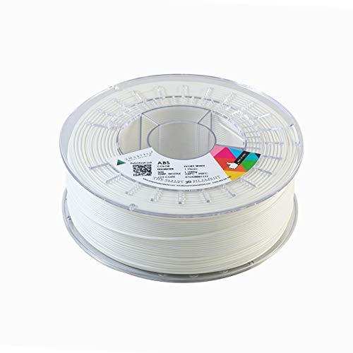 Smartfil ABS, 1.75mm, Ivory White, 1000g Filamento para Impresión 3D de Smart Materials 3D