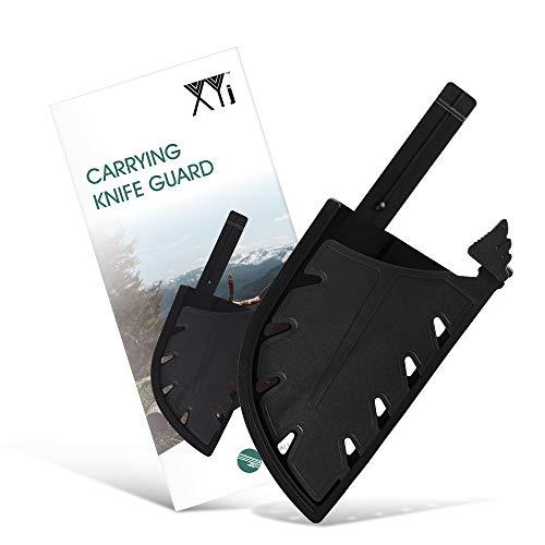 XYJ Kantenschutz für breite Messer, serbische Kochmesser, Kunststoff, Metzgermesser, Messerhülsen mit Gürtelschlaufe und Sicherheitsschnalle, breite Klingenabdeckungen, Messeretui