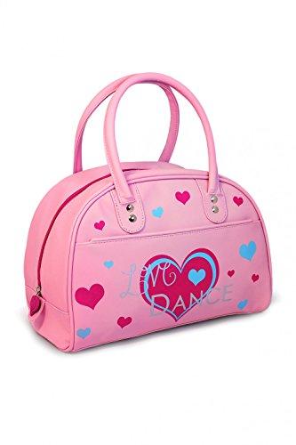 Roch Valley Bolsa de bolos retro para niñas, diseño de corazón, color rosa