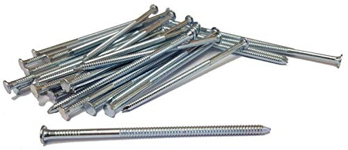 1kg Galvanised Annular Ring Shank Nails Nail Steel 4mm Thickness Various Sizes (4.0 x 40mm)