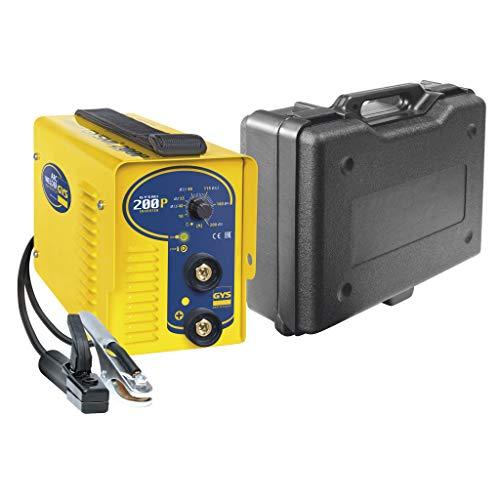 GYS - Gysmi 200P - Poste à Souder - inverter - MMA - Ø 1, 6 à 4 mm - 230 V - livré avec Câbles de masse et Porte Électrode en Valise
