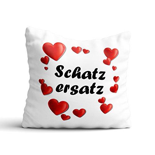 PixiPrints Premium-Kissen mit Motiv Schatzersatz * Geschenkidee für Paare Liebe Valentinstag Freundin