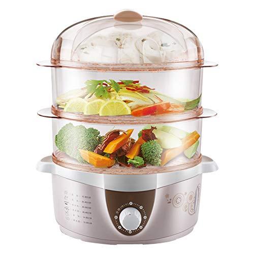Vaporizador de alimentos de gran capacidad, 4 L, vaporizador de 4 l, vaporizador de 3 capas, cocina rápida de verduras y alimentos saludables