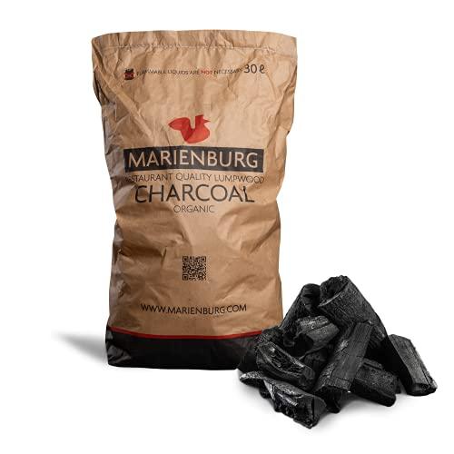 Marienburg - Qualitäts-Bio-Holzkohle, geeignet für den Einsatz in Restaurants, für Grills und Pizza-Öfen, 30L